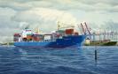 Northern Happiness im Hamburger Hafen - Gouache 80 x 60 cm