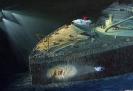 Titanic Tauchboot Alvin am Wrack - Gouache 50 x 35 cm