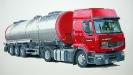 Tanklastwagen - Gouache 20 x 30 cm