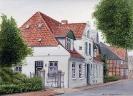 Am alten Markt Brunsbüttel - Aquarell 20 x 30 cm